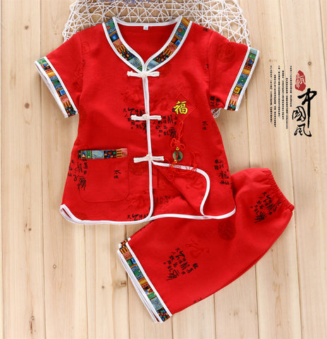 44c11b24df Boy chinese new year dress set   party dress 2-5 Years old