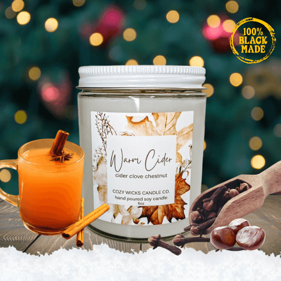 Warm Cider Candle - Holiday Limited Edition - The Spotlight Box
