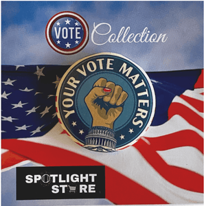 Your Vote Matters Pin - The Spotlight Box