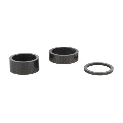 "Mighty Carbon Spacer Set 2x 3mm 10mm 15mm 4-teilig für 1 1/8"" - Bikers Base"