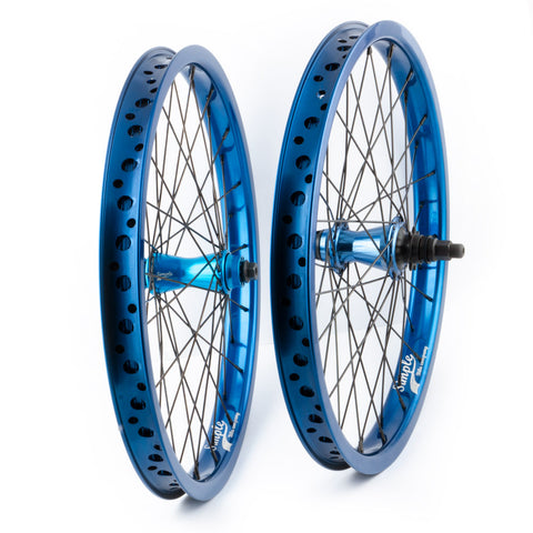 Bikers Base SaltPlus / Simple 20 Zoll Kassetten BMX Laufradsatz Blau
