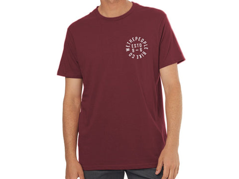 wethepeople Pocket Estd 96 T-Shirt  Maroon Red XL