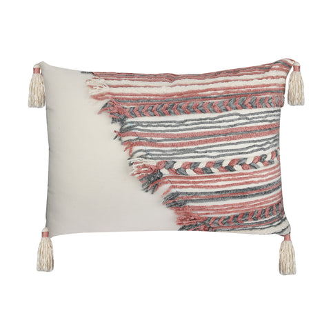 BLOOMFIELD WHITE UPCYCLED CUSHION