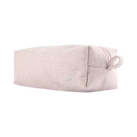 BLUSH PERSONALISED POUCH WITH EMBROIDERY