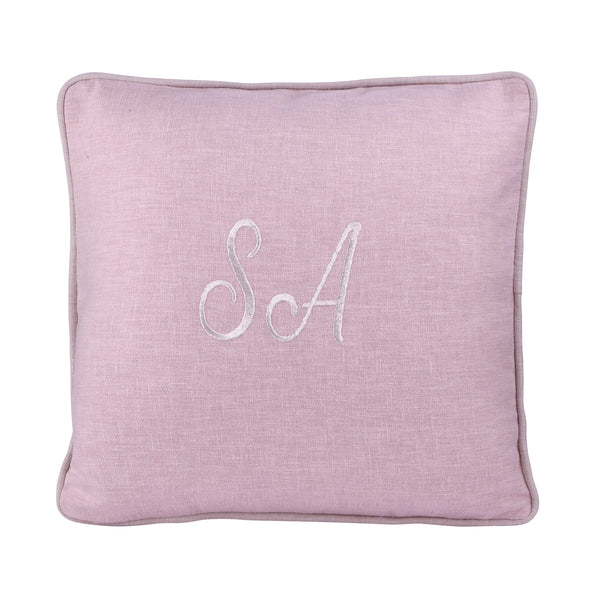 BLUSH PERSONALIZED CUSHION WITH EMBROIDERY