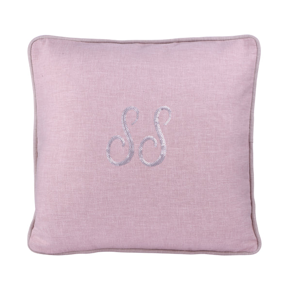 BLUSH PERSONALIZED CUSHION WITH SEQUINS