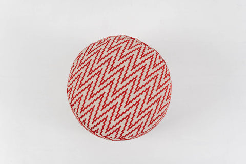 CHEVRON RUBY POUFFE