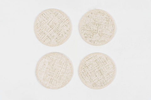 "GENIUS GOLD COASTERS 4.5"" Round - set of 4 & 6"
