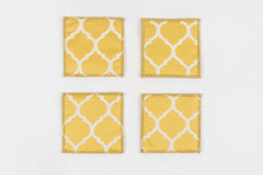 "GRACE SUNSHINE COASTERS 4.5"" X 4.5"" - set of 4 & 6"