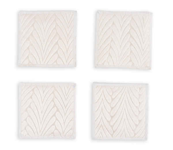 "JOY PEARL COASTERS 4.5"" X 4.5"" - set of 4 & 6"