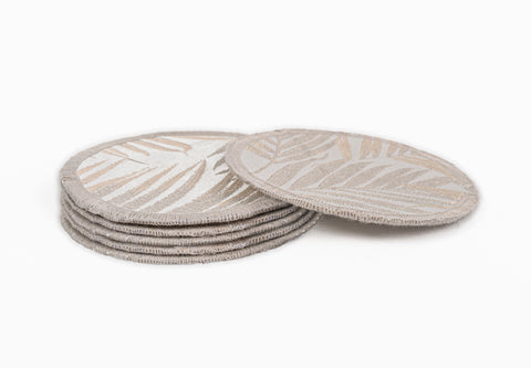 "PALM SPRINGS GOLD COASTERS 4.5"" Round - set of 4 & 6"