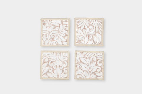 DAMASK BLUSH COASTERS