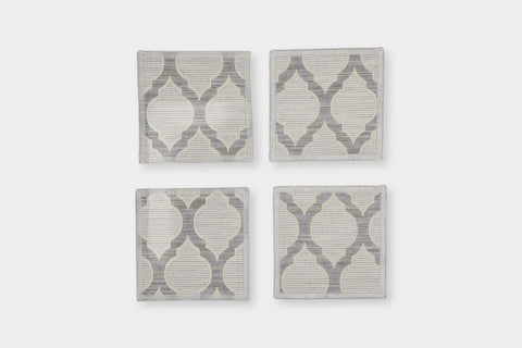 OGEE TAUPE COASTERS