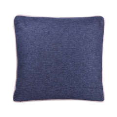 DENIM PERSONALIZED CUSHION WITH EMBROIDERY