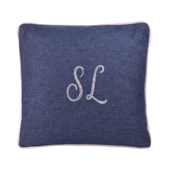 DENIM PERSONALIZED CUSHION WITH SEQUINS