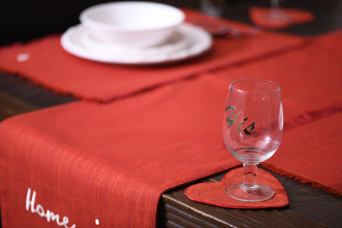 HOME IS WHERE THE HEART IS TABLE RUNNER