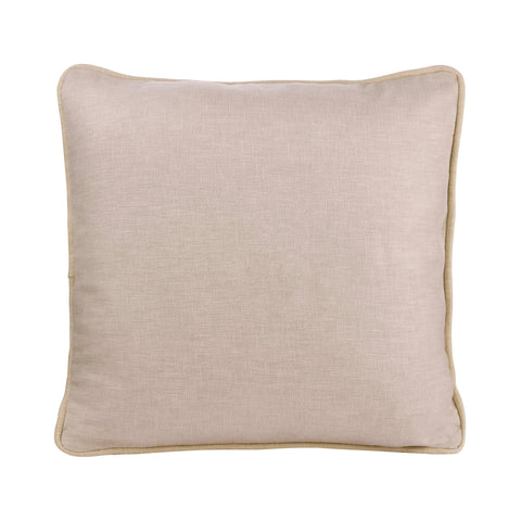 IVORY  PERSONALIZED CUSHION WITH EMBROIDERY