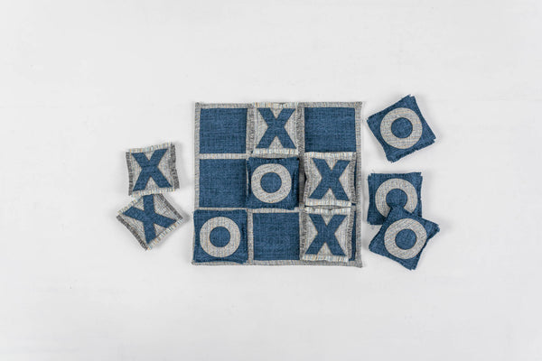 MARTIME  BLUE AND GREY TIC TAC TOE