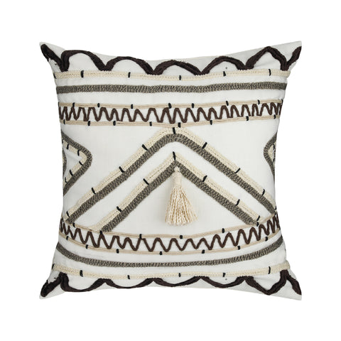 MOROCCO WHITE UPCYCLED CUSHION