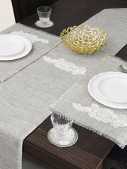 OLIVIA GREY TABLE RUNNER