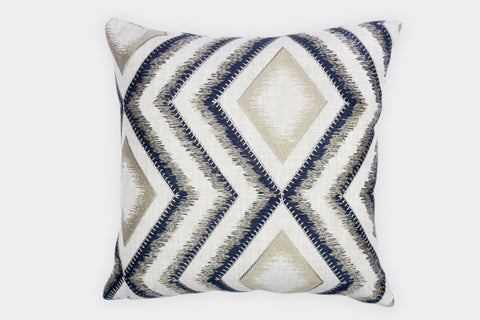 ORNAMENTAL NAVY CUSHION