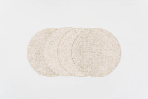 "GENIUS GOLD PLACEMATS 15"" Round - set 4 & 6"