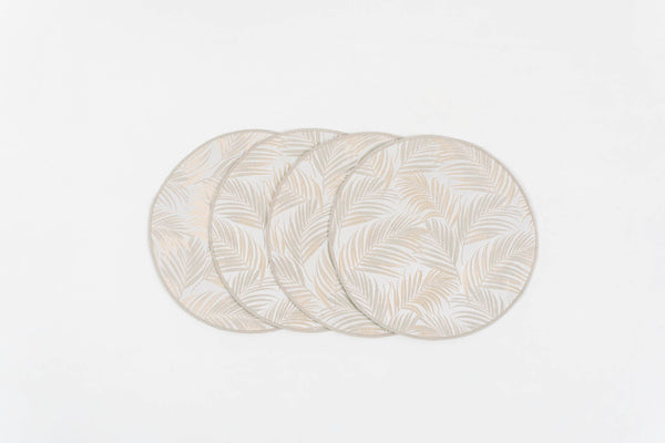 "PALM SPRINGS GOLD PLACEMATS 15"" Round - set 4 & 6"