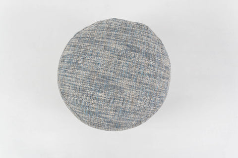 TWEED DENIM POUFFE