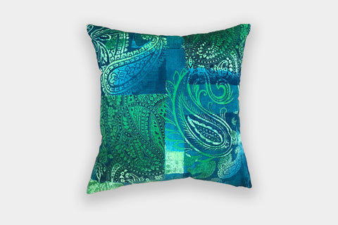 PAISLEY PEACOCK CUSHION