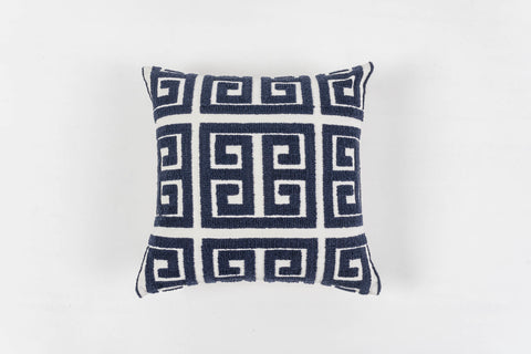 TRELLIS NAVY CUSHION