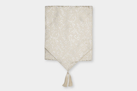 ACANTHUS IVORY TABLE RUNNER