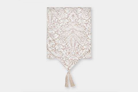 DAMASK BLUSH TABLE RUNNER