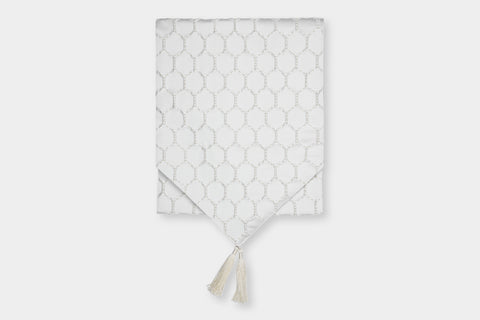 HEX IVORY TABLE RUNNER