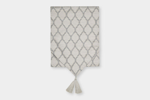 OGEE TAUPE TABLE RUNNER