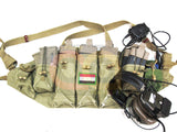 [Asiaairsoft.com] The Original Chinese Army AK and Grenades Chest Vest [3 AK Pouches Style] [OD]