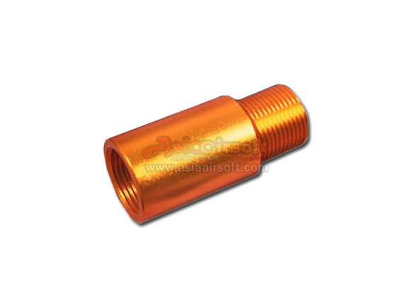 [SLONG] Aluminum extension 14mm cw to 14mm ccw outer barrel[26mm][Orange Copper]