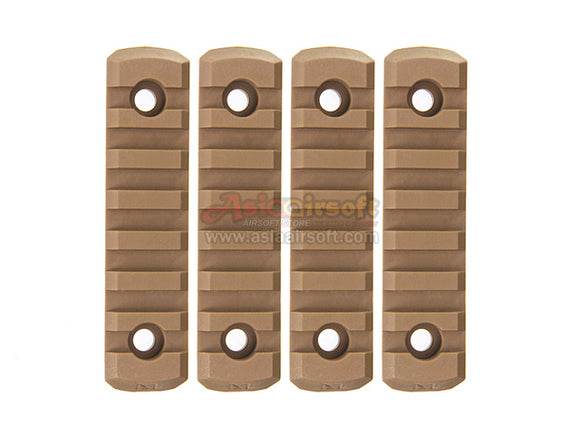 [Army Force] M-LOK Nylon 7 slot Picatinny Rail[4pcs/Set][CB]