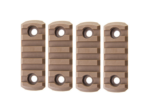 [Army Force] M-LOK Nylon 5 slot Picatinny Rail[4pcs/Set][CB]