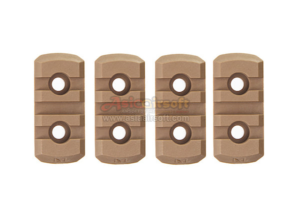 [Army Force] M-LOK Nylon 3 slot Picatinny Rail[4pcs/Set][CB]