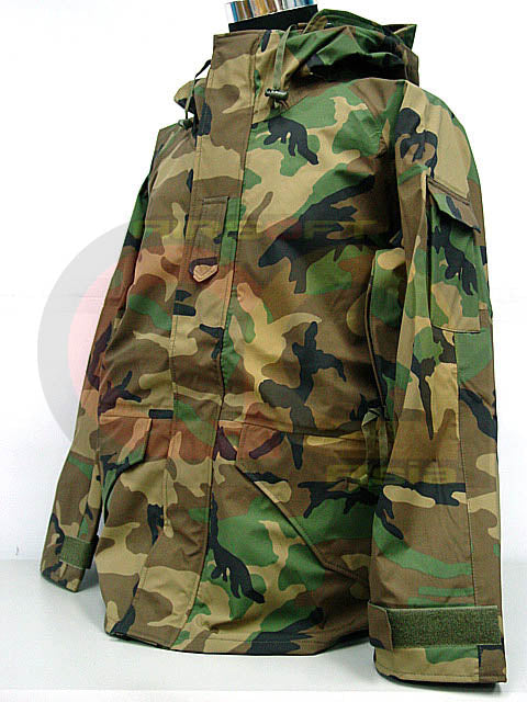 SWAT Airsoft Parka Jacket Waterproof Camo Woodland L
