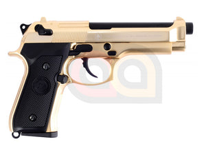 [WE] Fully Metal M92F SOF Airsoft GBB Pistol [Navy Seal][Gold]