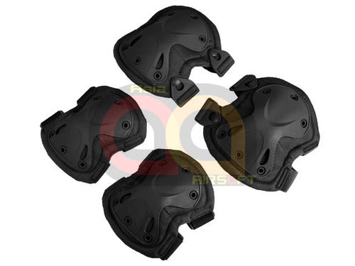 [CN Made] 9mm Tactical Knee and Elbow Pad Set[BLK]