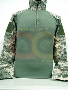 Tactical Combat Shirt w/ Elbow Pad Digital ACU Camo S