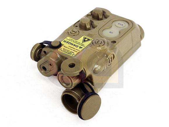 [Army Force] AN/PEQ-16 Style Battery Case Box Tan w/RIS Mount [DE]
