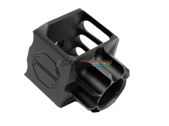 [5KU] LAF-24 Airsoft Muzzle Brake[+24mm CW][BLK]