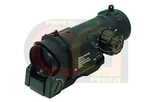 [CN Made] ECLAN Spector DR 4X Magnifer Scope with Illuminated Dot [BLK]
