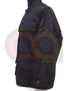 SWAT Airsoft Black 4 Pocket BDU Uniform Shirt Pants L