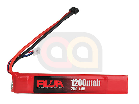 [RWA] 7.4V 1200mAh (20C) LiPo Rechargeable Battery[Short]