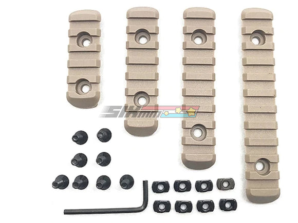 Copy of [BELL] Nylon Picatinny Rail Set[4/6/8/10 Slots][M-Lok Ver.][DE]