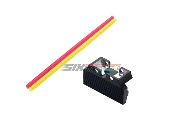 [COWCOW Technology] Fiber Optic Rear Sight[For Tokyo Marui HI CAPA GBB Series]